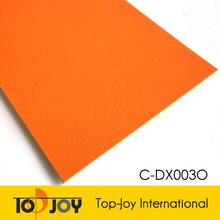 Orange Indoor Synthetic Badminton Court PVC Sports Flooring