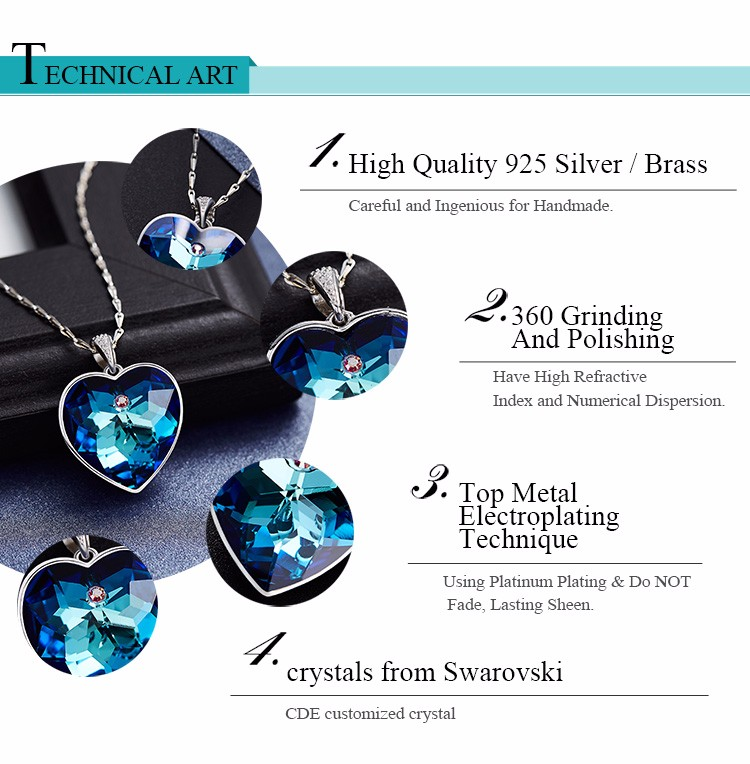 rhinestone jewelry factory wholesale different type of chain fashion 2017 crystals from Swarovski women pendant necklace
