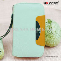 2013 hot sell fashion leather mobile phone case for Samsung N7100