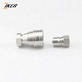 KZF ISO 7241-1B close type stainless steel hydraulic quick coupling