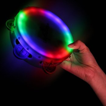 multi-color led tambourine