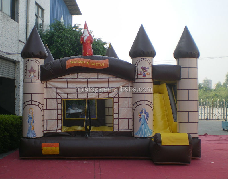 Hola blue inflatable castle with slide/inflatable bouncer combo for sale