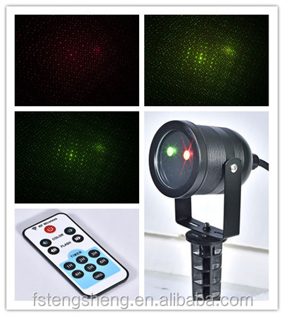 LED Garden sparkling Laser Spot Light with Remote Controller flashing in red and gerren color