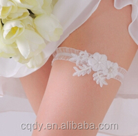 Graceful sexy elastic lace princess wedding garter for women /Decorative White Flower Bridal Wedding Garter