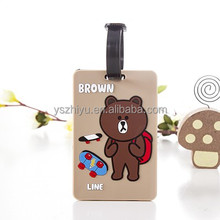 Fashion cheap OEM soft pvc luggage tag for travel suitcase