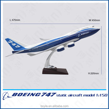 Art Crafts handmade diecast boeing model aircraft models passenger plane B747 1/150 with wooden base
