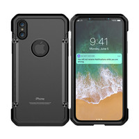 New Mobile Transparent Full-Body Rugged phone Hard bumper TPU Frame Matte PC Case For iPhone X