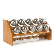 Hot sell unique bamboo spice rack