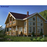 Low price Wooden House prefabricated log homes cost for sale