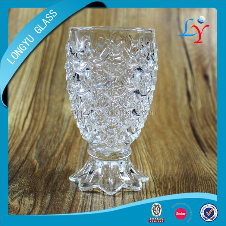 pineapple shaped cup glass cheap glass candle cup