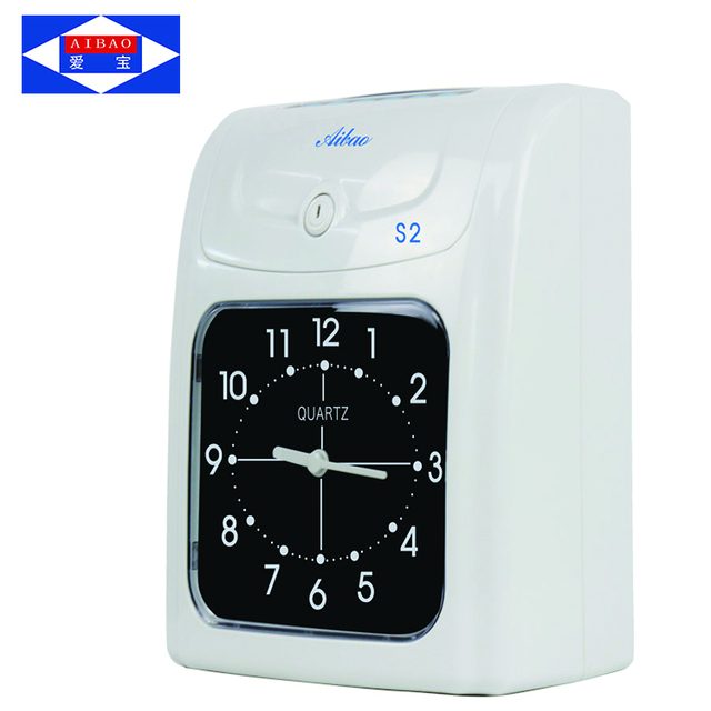 auto calculating working hours punch card time recorder attendance machine