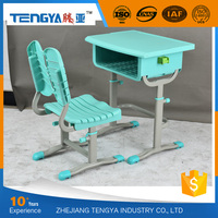 New PP School Furniture Height Adjustable Study Tables Chair Sets