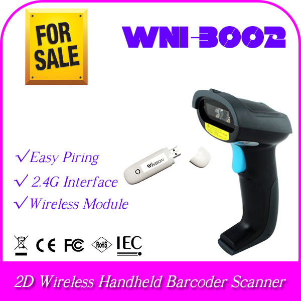 high transmission rate RF module 2.4G Wireless handheld barcode scanner Android portable reader