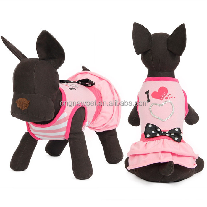 Lovely Puppy Dresses Pet Product Small Dog Jumpsuit Fashionable Dog Clothing