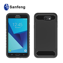 Lightweight Carbon Fiber Pattern Cell Phone Cover Shockproof Dustproof Shock Absorbing Bumper and For Sam Galaxy S7 Back Cover
