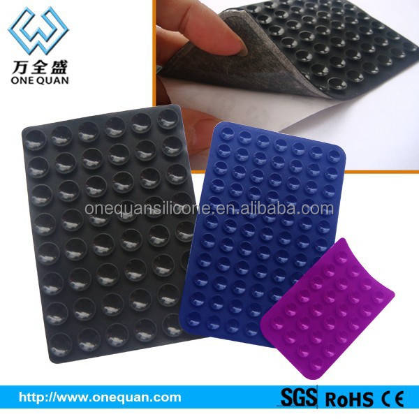 2015 new products multifunction non slip cup mat with 3M sticker