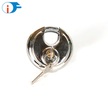 Bright Chrome Finish Globe Love Heart Disk Padlock