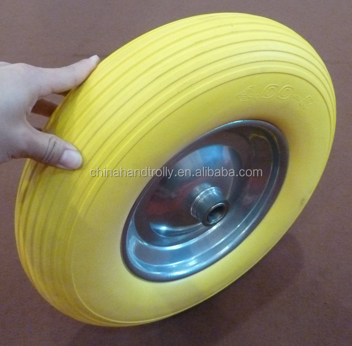 replacement steel hub ribbed tread rubber wheel