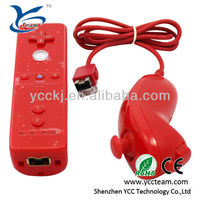 Blue/black/white/red/pink game controller for wii remote and nunchuck