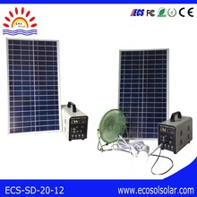 Home Application and Mini home use portable solar generator 20w