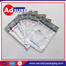 Security Bags For Money/clear tamper proof plastic bags/Secure Money Bag