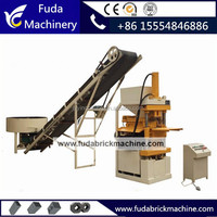 Interlocking Automatic Colored Clay Block Making Machine
