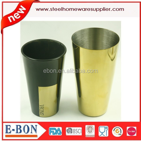 Golden plated Stainless steel cocktail shaker boston
