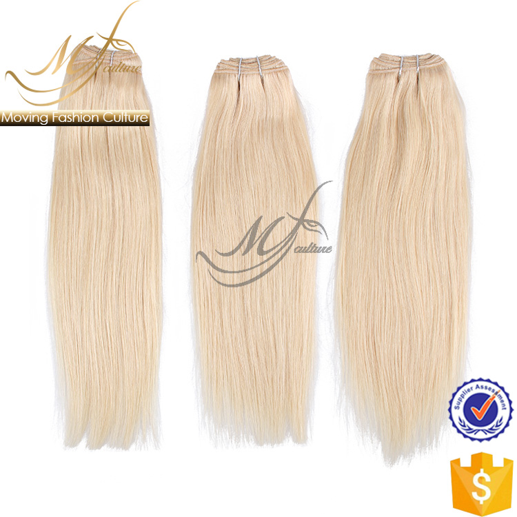 New design blonde hair bundles with lace closure for china sale