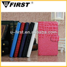 Crocodile Wallet Leather Case For Samsung Galaxy Note2 N7100,Factory Cheap Price,OEM/ODM