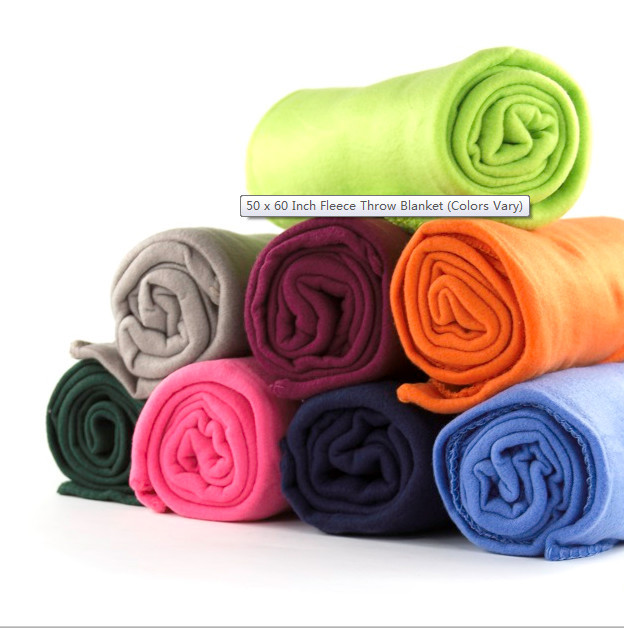 New throw solid color vary plush fleece blanket