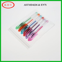 Multi-colors promotional gel ink pen set with PVC box