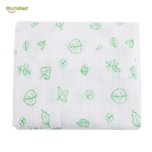 China Manufacturers organic bamboo cotton Muslin Wrap Swaddle Baby Blanket