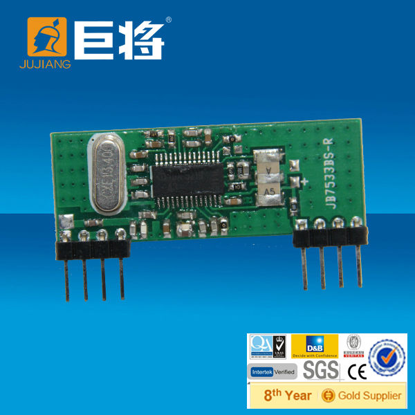 868mhz rf wireless receiver module for smart home security / gate opener JJ-JS-07