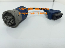 9 pin connector J1939 to OBDII female connector for diesel/truck obd2 scanner