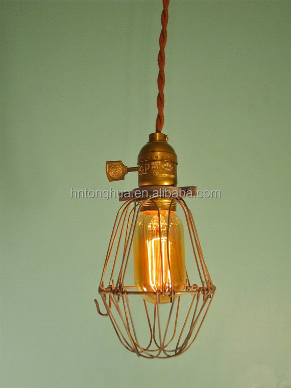 Vintage Style Industrial lamp guard cage edison light cagevintage