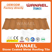 Sand Coated Metal Roofing Tiles Nigeria Hot Sale Villa stone coated steel roofing tile Classical