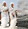 Latest asoebi white beaded lace fabric for nigerian wedding dress/embroidery tulle beaded bridal lace/ french beaded lace