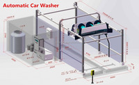 2015 China Best 24 Hours Open Self Service Automatic brush car wash, carwash machine