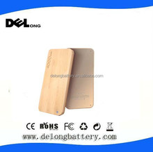 portable mobile power bank 4000mah wooden phone charger
