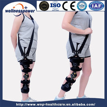 High-quality Medical Hinge Leg Brace Products Angle Adjustable Orthopedic ROM Hinged Knee Support