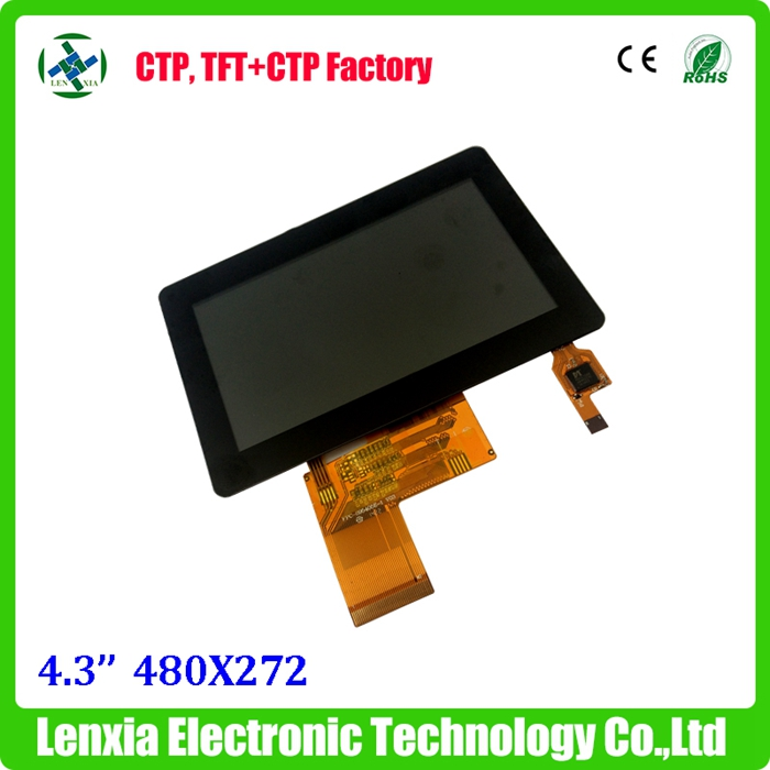 "Factory stable supply capacitive 4.3"" lcd touch module with 480x272"
