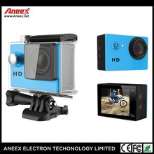 2 inch screen cheap waterproof 720p hd sports action video camera