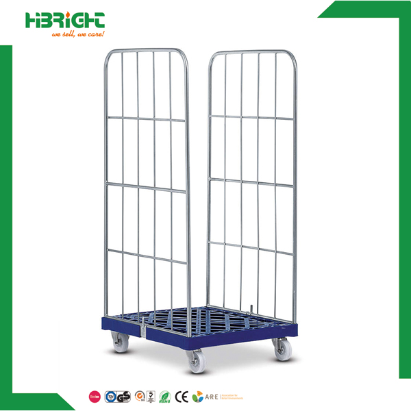 demountable 2 sides roll cage with platic base