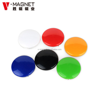Stainless Steel Round Silver Office Magnets heavy duty office magnets