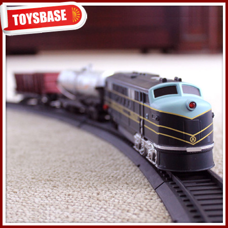 Kids Funny B/O Battery Operated 1:87 Plastic Classic Railway Electric Locomotive model kids electric metal thomas the train toys