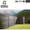 2016 hot sale waterproof and durable wood plastic composite fence / wpc railing