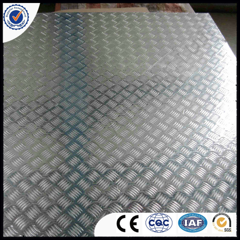 Aluminium tread sheet ribbed plate