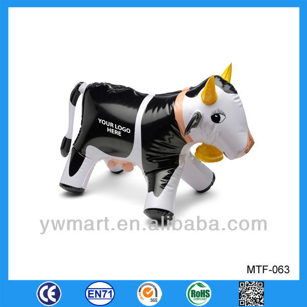 Promotional inflatable toy cow, PVC inflatable milk cow for advertising