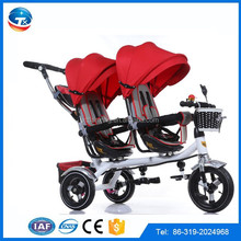Double two seats children tricycle baby stroller tricycle for twins