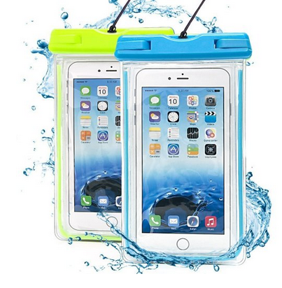 Wholesale waterproof pvc cell phone bag cover for iPhone 6,mobile phone case neck strap